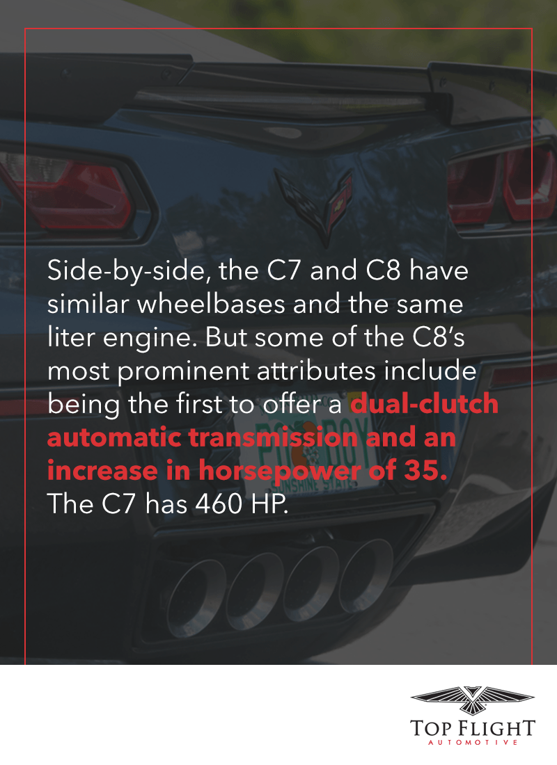 The C8 corvette features a dual-clutch automatic transmission