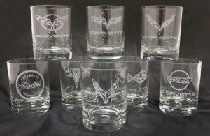 Corvette cocktail glasses